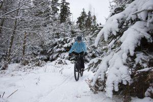 jazda rowerem zimą